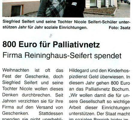 Stiepeler Bote: 800 Euro für Palliativnetz