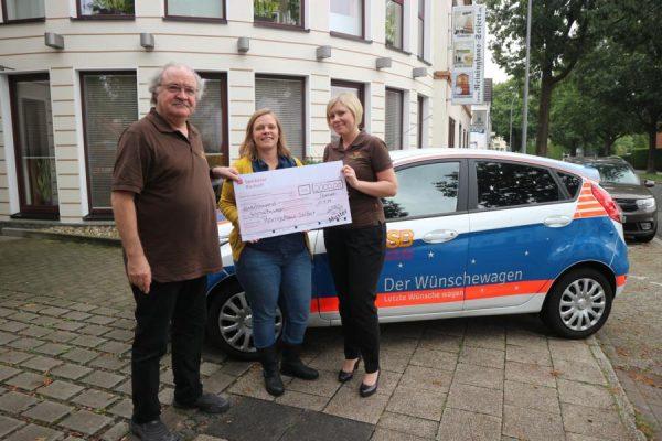 Wir spenden Dank Ihnen 2.000 Euro an Wünschewagen