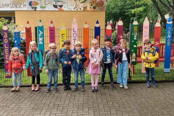 Abschied vom Kindergarten KinderReich mit bunten Holzstiften